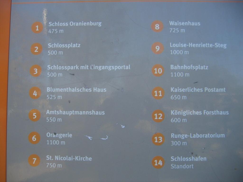 Sehenswürdigkeiten Oranienburg
