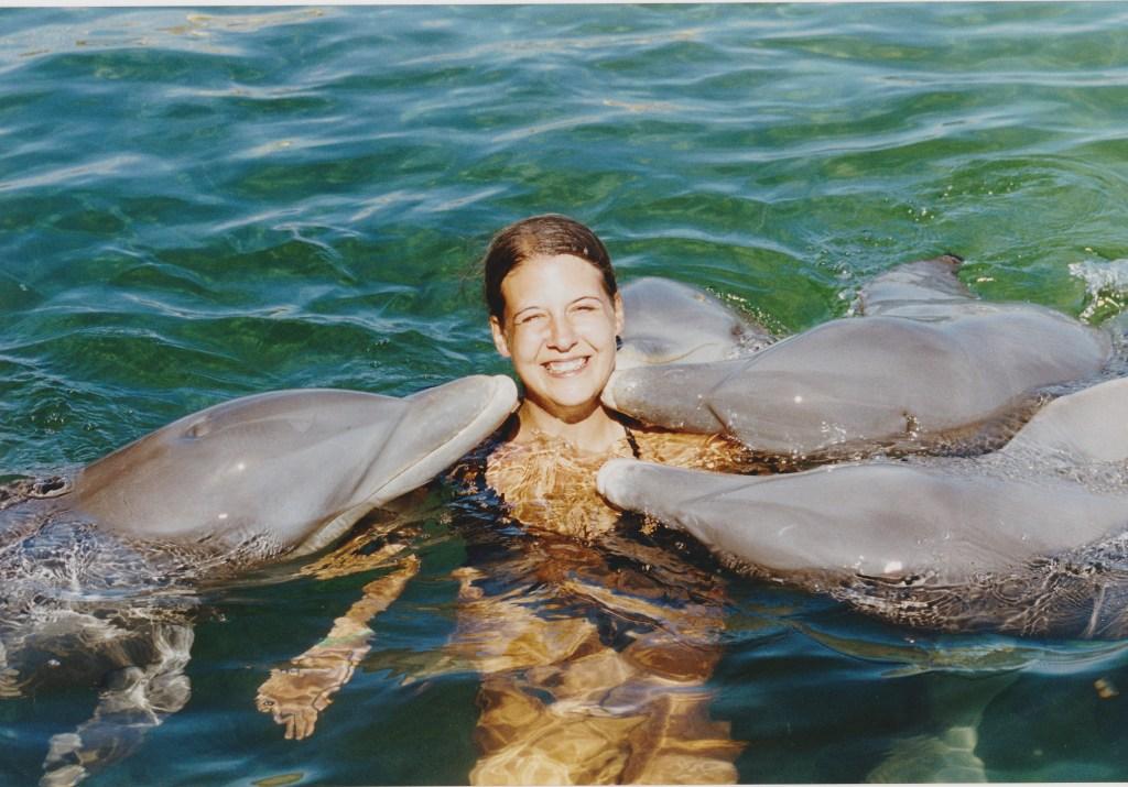 Mit Delfinen