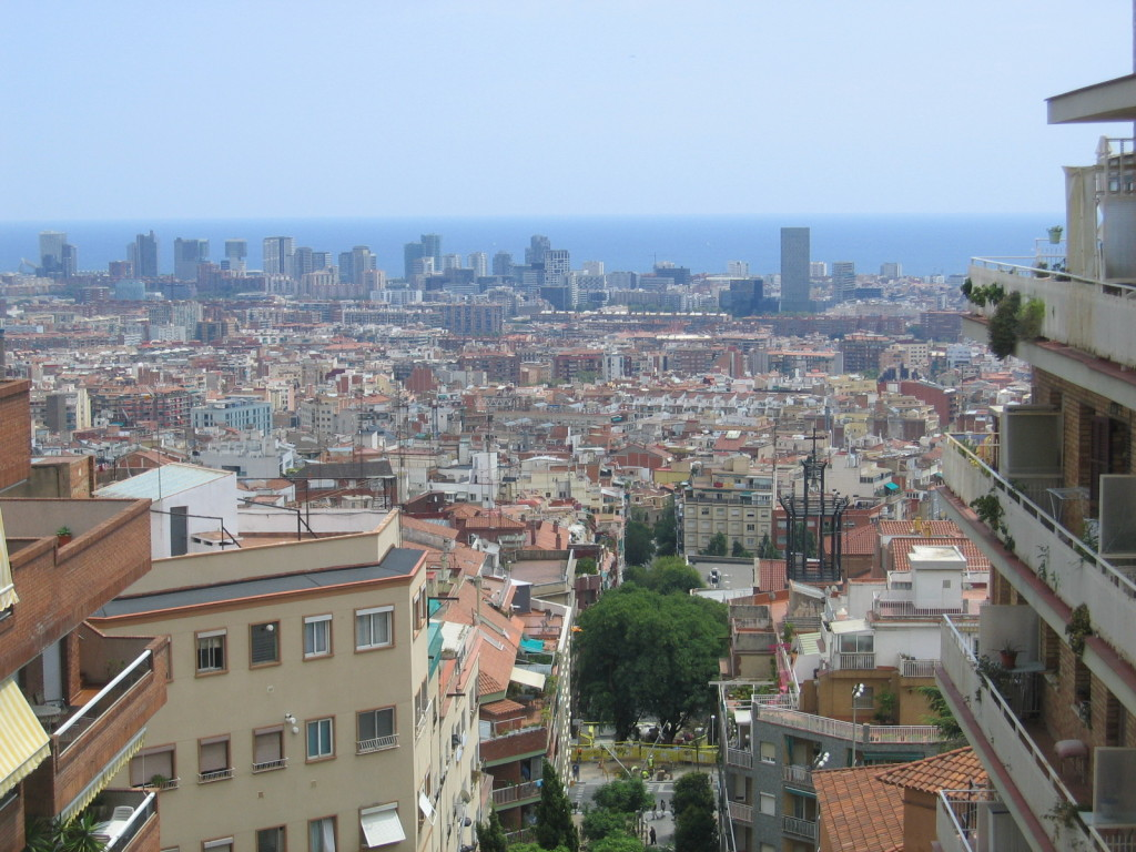 Barcelona/Ausblick unter Parc de Guinardo