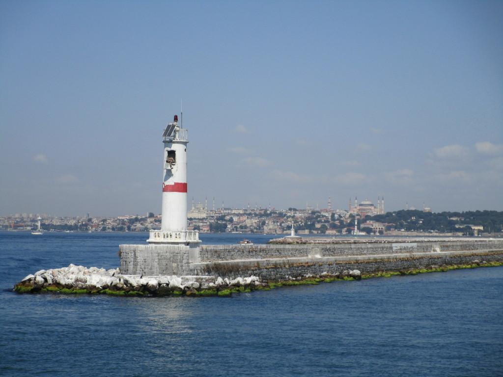 Blick zum europäischen Teil Istanbuls