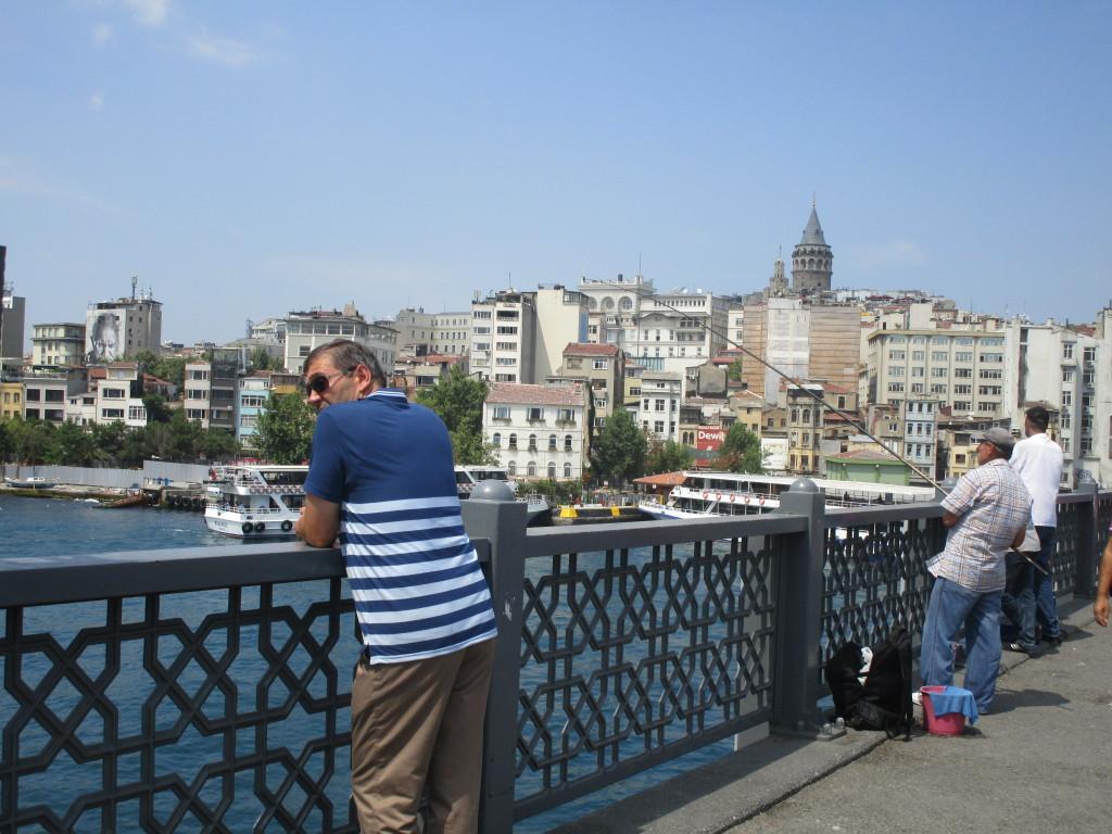 Auf der Galata-Brücke