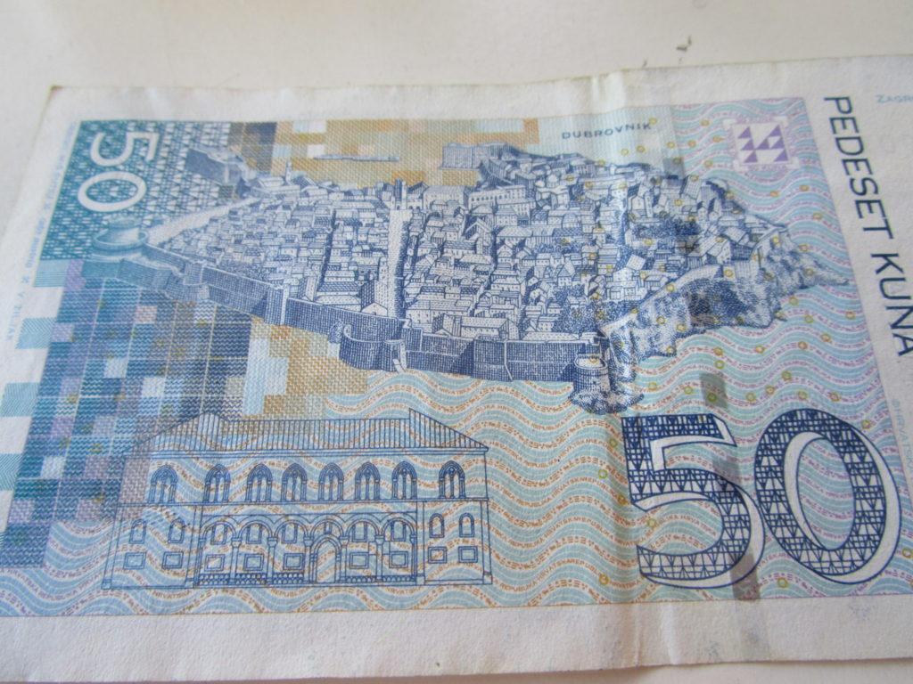 Dubrovnik auf dem 50 Kuna Schein