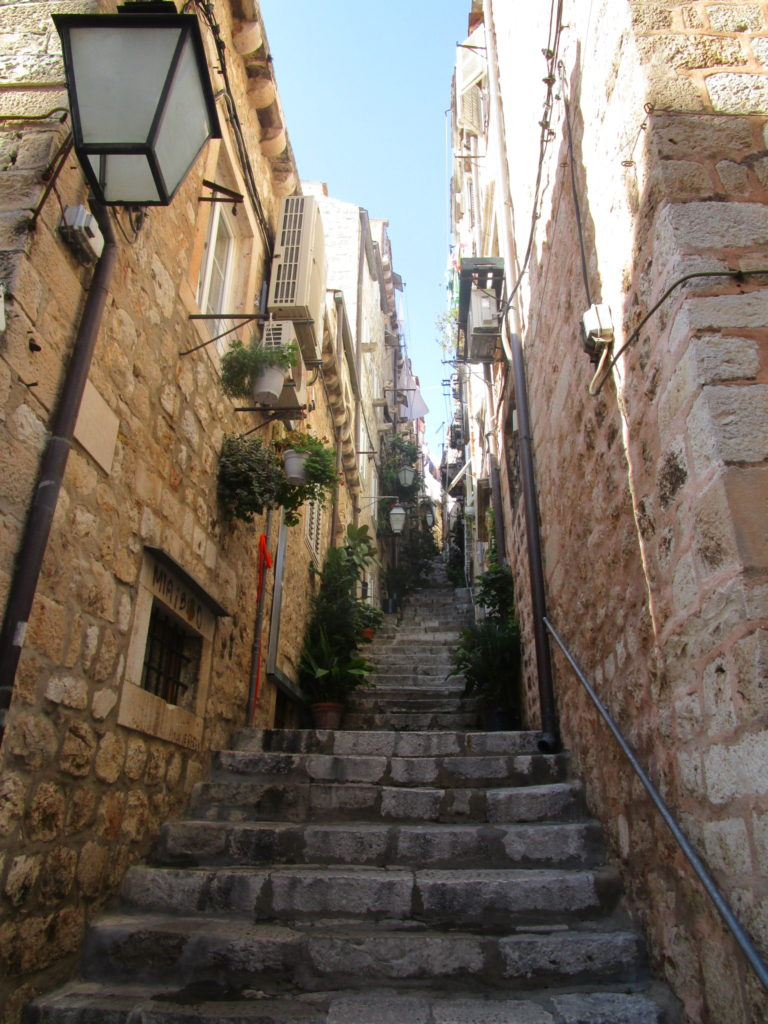 Steile Treppengasse