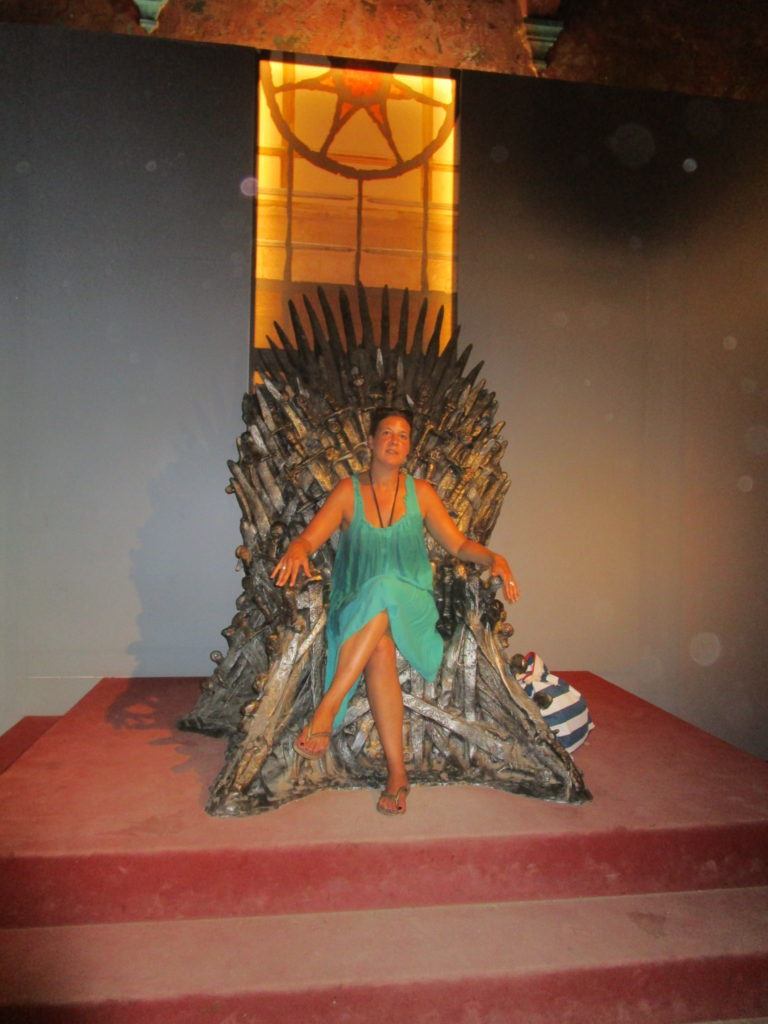 Me on throne