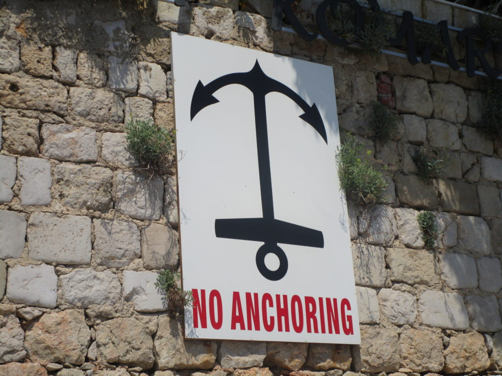 No anchoring