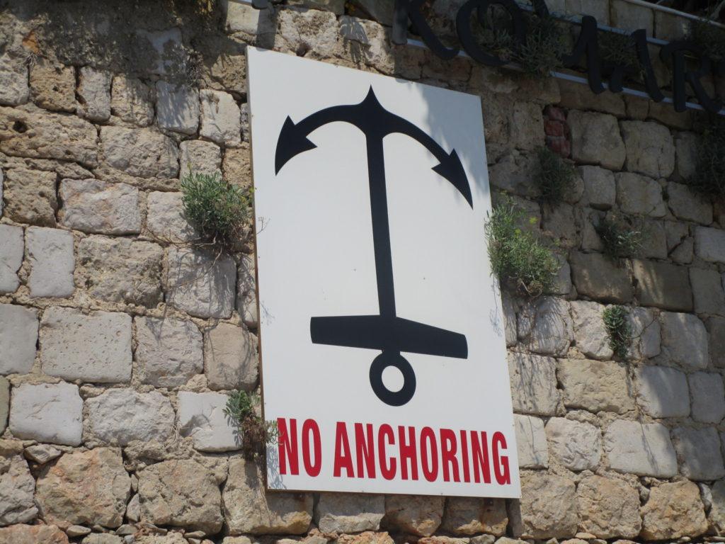 No anchoring